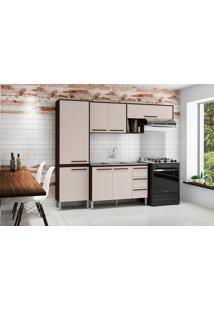 Cozinha Compacta Com Balcão Kit'S Paraná Venice, 7 Portas, 3 Gavetas