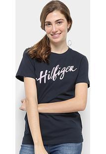 Camiseta Tommy Hilfiger Feminino Viola Feminino - Feminino