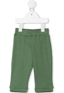 Eshvi Kids Calça Canelada De Algodão Orgânico - Verde