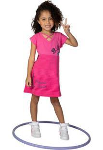 9a821d99b Vestido Manga Curta Em Cotton - Estampa 3D - Rosa - Minnie Mouse - Disney -