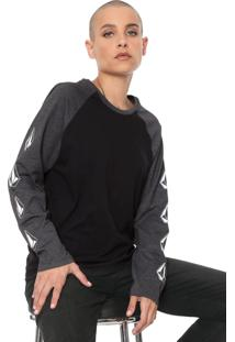 Camiseta Volcom Pop Rocket Preta