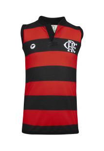 Vestido Do Flamengo Tubinho Torcida Baby - Infantil - Vermelho/Preto