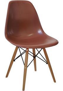 Cadeira Eames Dkr - Cafã© & Marrom - 80,5X46,5X42Cm
