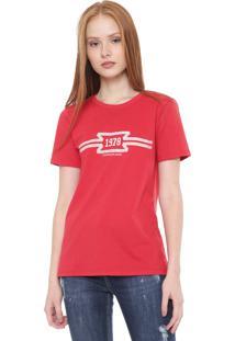 Camiseta Calvin Klein Jeans 1978 Vermelha - Vermelho - Feminino - Algodã£O - Dafiti