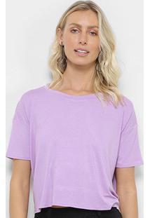 Camiseta Forwhy Amarração Costas Feminina - Feminino-Lilás