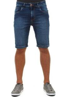 Bermuda Docthos Jeans Masculina - Masculino-Azul+Preto