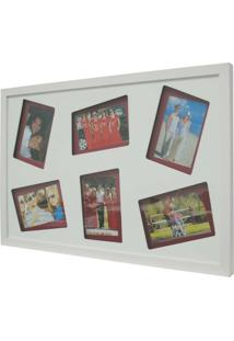 Painel Layer 6 Fotos 10X15Cm Branco, Vermelho Kapos
