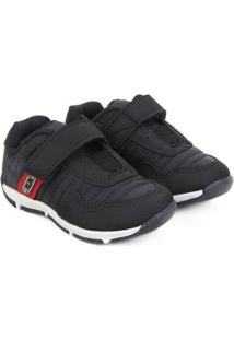 Sapato Infantil Klin Outdoor Velcro - Masculino-Preto+Vermelho