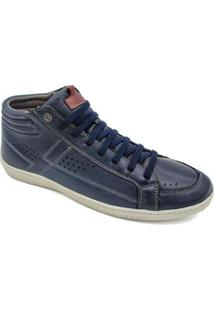 Sapatenis Bell Boots Botinha Cano Curto Masculino - Masculino-Azul Escuro