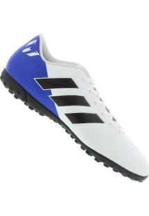 7712693d10 Chuteira Society Adidas Nemeziz Messi Tango 18.4 Tf - Adulto - Branco Preto