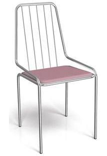 Cadeira Kappesberg Benim 1C082 Aço Cromada Cromada/Nude