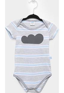 Body Infantil Marlan Bebê Listrado - Masculino-Mescla