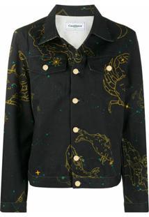 Casablanca Jaqueta Jeans Constellation - Preto