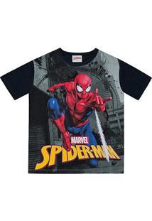 Camiseta Infantil Fakini Spider-Man Malha Masculina - Masculino