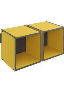 Nicho Mov Duplo Amarelo Be Mobiliário
