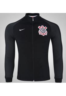 Jaqueta Do Corinthians 2017 Nike - Masculina - Preto/Branco