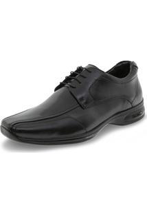 Sapato Masculino Social 3D Preto/Cadarço Jota Pe - 30004