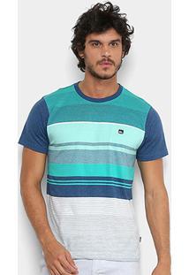 Camiseta Quiksilver Eye Masculina - Masculino-Azul+Cinza 45068cd367b
