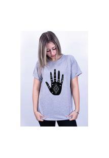 Camiseta Bilhan Corte A Fio Mão Gde Cinza