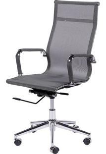 Cadeira Office Eames Tela- Cinza & Prateada- 112,5X6Or Design