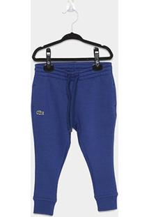 Calça Infantil Jogger Lacoste Masculina - Masculino-Azul