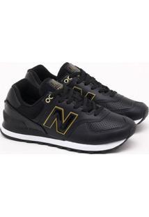 Tênis New Balance 574 Preto Feminino 35