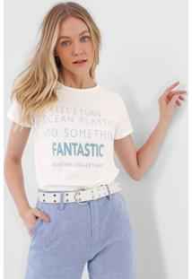 Camiseta Lez A Lez Fantastic Off-White/Azul - Off White - Feminino - Poliã©Ster - Dafiti