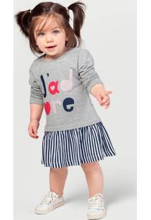 Vestido Bebê Menina Em Moletom Com Estampa Glitter Hering Kids