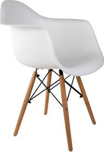 Cadeira Charles Eames Com Braço I Branca