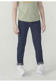 Calça Jeans Infantil Menino Com Elastano Hering Kids Azul