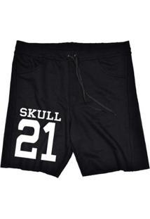 Bermuda Moletom Skull 21 Masculina - Masculino