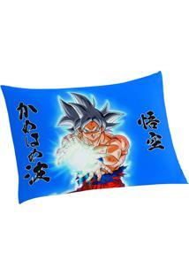 Fronha Dragon Ball®- Azul Amarela- 50X70Cm- Lelepper