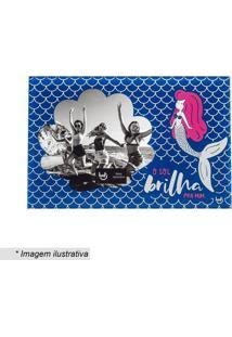 Porta Retrato Sereia- Azul Escuro & Branco- Tamanho Ludi