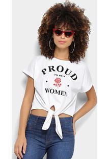 Camiseta Coca-Cola Cropped Estampa Floral Aroma Feminina - Feminino-Branco