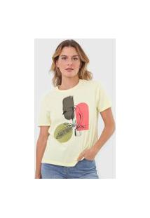 Camiseta Dzarm Estampada Amarela