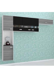 Cozinha Compacta 3 Peças Julia - Poquema - Grigio / Preto