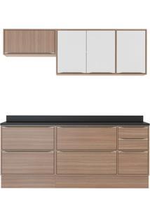 Cozinha Compacta Neylan 7 Pt 4 Gv Branco E Nogueira