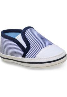 Sapato Masc Infantil Pimpolho 73003 Branco/Marinho