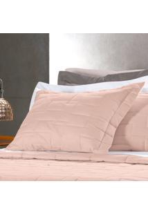 Porta Travesseiro Altenburg 200 Fios 100% Algodão Essence Peach - Rosa Rosa
