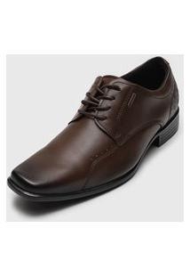 Sapato Social Pegada Recortes Marrom