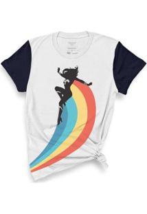Camiseta Bandup! Mulher Maravilha Rainbow - Feminino-Branco