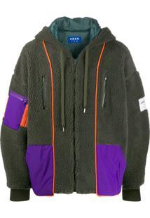 Ader Error Hooded Shearling Jacket - Verde