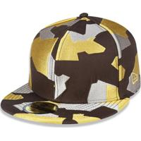 Bone 5950 New Era Branded Aba Reta - Masculino b0c32010bf2