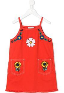 Stella Mccartney Kids Vestido Com Estampa Floral - Vermelho
