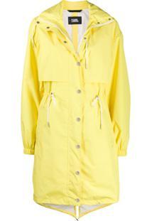Karl Lagerfeld Logo Waterproof Anorak - Amarelo