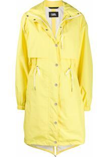Karl Lagerfeld Parka Impermeável - Amarelo