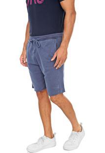 Bermuda Calvin Klein Jeans Reta Lisa Azul-Marinho