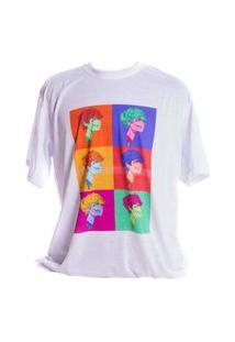 Camiseta Branca Prorider Bad Rose Personagem Autoral Nanami Nem Popgore