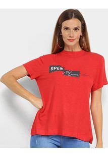 Camiseta Forum Linho Open Mind Feminina - Feminino