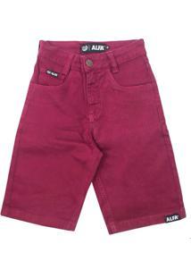 Bermuda Alfa Sarja Infantil - Masculino-Rosa Escuro